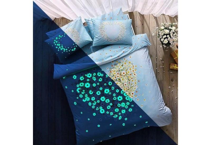 TAC Glow Haute Couture Bedding 100 % Cotton Double Duvet Cover Luxury Light Set